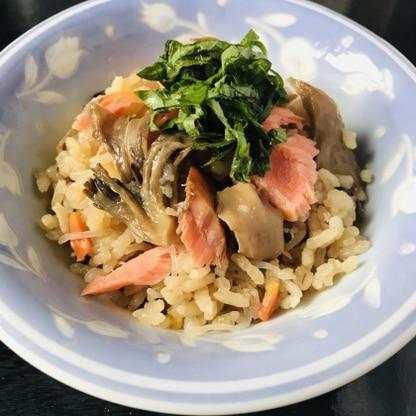 ご飯は丁度いい硬さに炊き上がりました。 魚、野菜、きのこと栄養がしっかり摂れて良いですね。 鮭ときのこの旨みが出ていて美味しかったです。