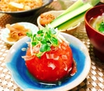 中華風☆丸ごとトマトのお浸し