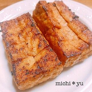 絶品♪ 低糖質 厚揚げの醤油マヨステーキ