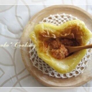 トマキャベ豆乳クリームのパイ包み焼き