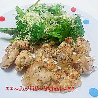 簡単♪鶏もも肉のバジル焼き