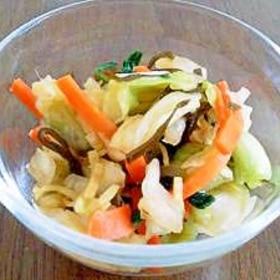 野菜と昆布の酢漬け