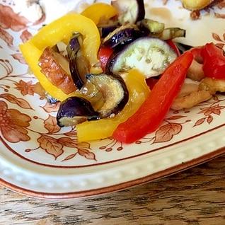 無水鍋で簡単☆カラフル野菜炒め煮