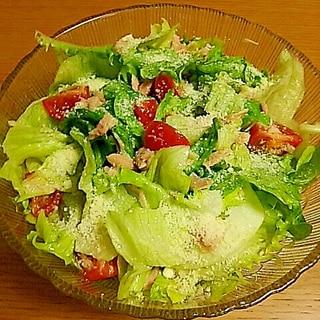 【簡単】レタスとツナの混ぜるだけで美味しいサラダ