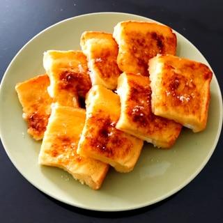 オーブントースターでカリッとフレンチトースト♪