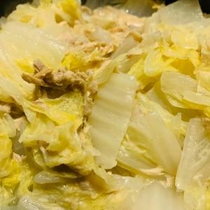 白菜とシーチキン煮