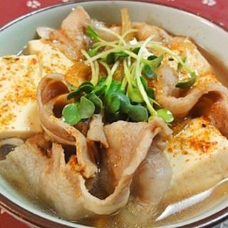 バラ肉で肉豆腐