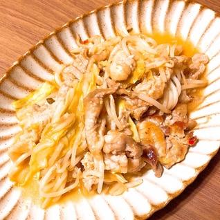 豚肉とキャベツともやしのピリ辛味噌炒め
