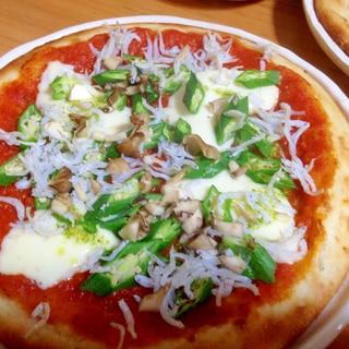 簡単ピザ!オクラのマルゲリータ