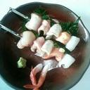 【創作料理】刺身の炙り串焼き