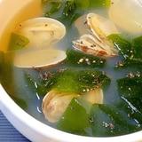 あっさり海鮮☆ 「アサリわかめスープ」