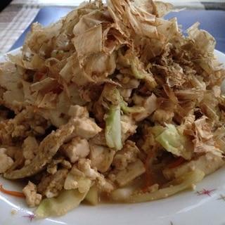 豚肉とキャベツの豆腐チャンプル