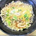 簡単☆竹輪・小ねぎの卵とじ蕎麦(天かす添え)