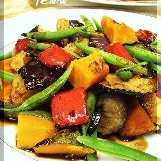 温野菜のバルサミコソース
