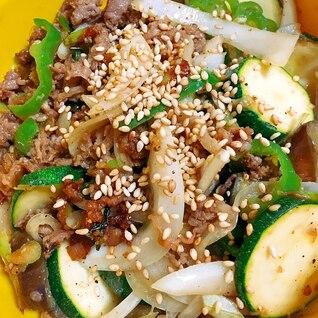お野菜たっぷり!牛肉と夏野菜の韓国風炒め