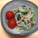 糖質制限☆白滝とワカメのサラダ