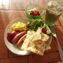 CAFEライクな朝ご飯1