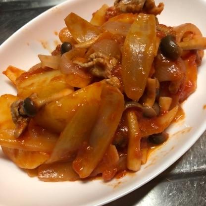トマト味が好きなのでたっぷり作りました( ´  ` )  家族にも好評であっという間に完食! 美味しかったです ごちそうさまでした(*ˊ˘ˋ*)