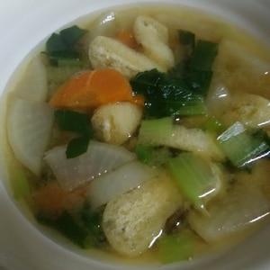 大根と小松菜の味噌汁