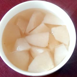 中華風梨の甘いスープ(冰糖雪梨)