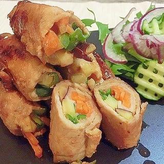 お弁当にも☆ お野菜の肉巻き 鯛みそで♪