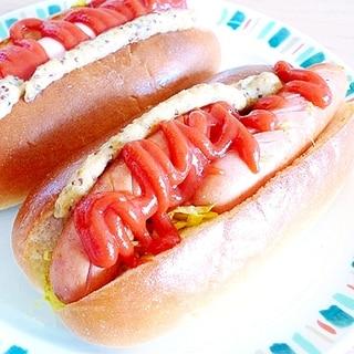 カレー風味のホットドッグ☆思い出の味