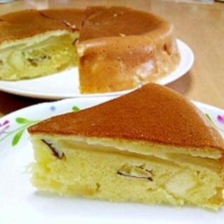 炊飯器で簡単!りんごとサツマイモのケーキ