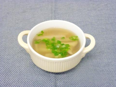 エリンギとじゃこ天の和風スープ