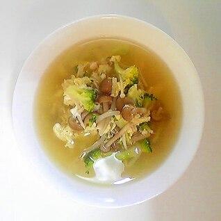 きのことブロッコリーのスープ