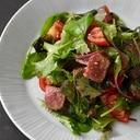 都城産宮崎牛ランプステーキの醤油麹漬・サラダ仕立て