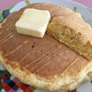 栄養たっぷり♪にんじん林檎おから入りホットケーキ