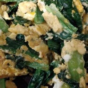 ★小松菜と卵の中華風炒め★