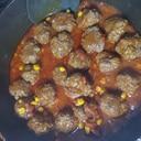 フライパンひとつ~肉団子のトマト煮