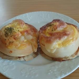 HBでお惣菜パン♪ハム&チーズのふんわりパン