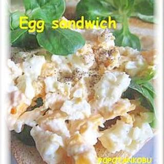 ゆで卵じゃない★レンジで作る簡単タマゴサンド★