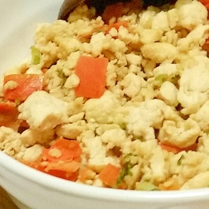 めんつゆで簡単に♪炒り豆腐