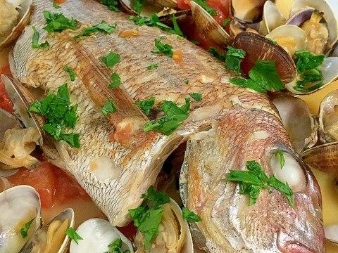 おしゃれイタリアン~鯛とあさりのアクアパッツァ~