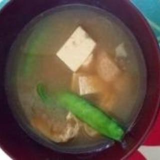 旬のお野菜の味噌汁