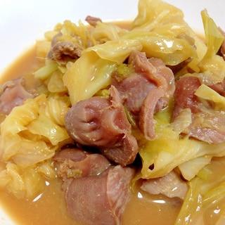 ご飯がすすむ☆砂肝とキャベツの味噌煮込み