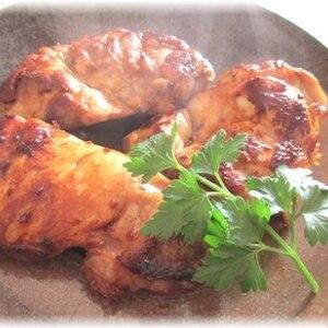 鶏の山椒焼き、オリーブオイルたれがけ