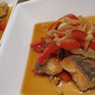 フライパンで♪鮭とパプリカの南蛮漬け