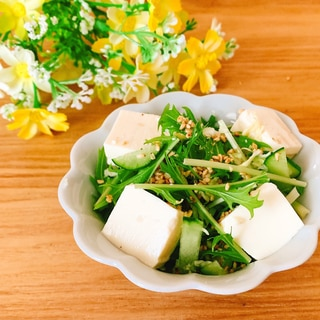 お豆腐野菜サラダ•.¸¸¸.☆♡