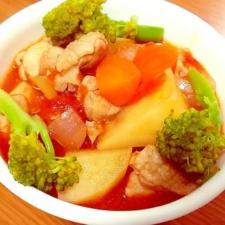 トマト缶で♪鶏肉と野菜たっぷりのミネストローネ☆