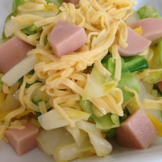 冷蔵庫の残りであと一品!錦糸卵と野菜のおかず