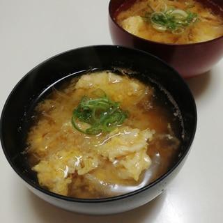 千切りキャベツと玉葱のお味噌汁