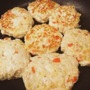 鶏ひき肉と豆腐の柚子胡椒ハンバーグ