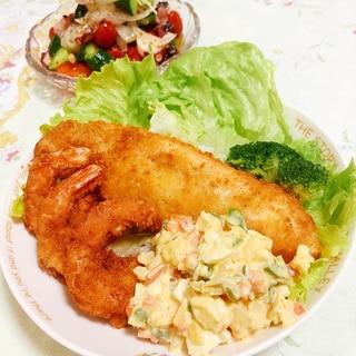定番洋食メニュー★白身魚のフライ