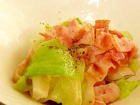 キャベツの蒸しサラダ