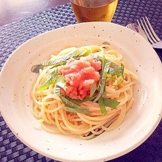 冷製☆めんたいスパゲティ