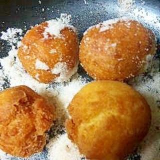 ホットケーキミックス*簡単 ま~るい揚げドーナツ*